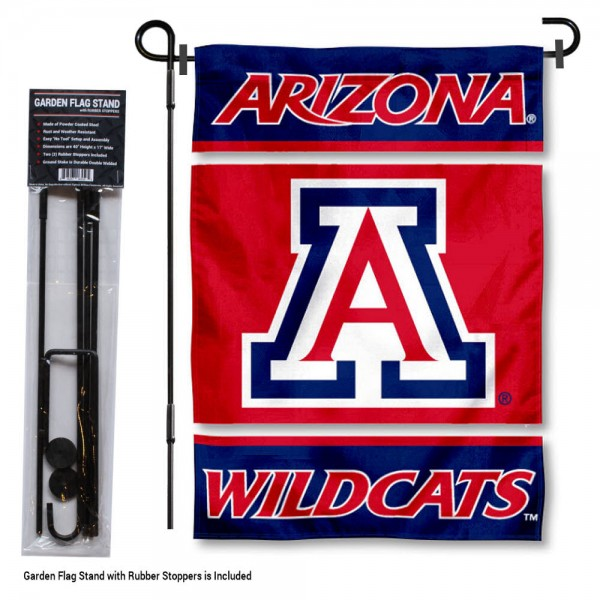 Arizona Wildcats Garden Flag and Holder