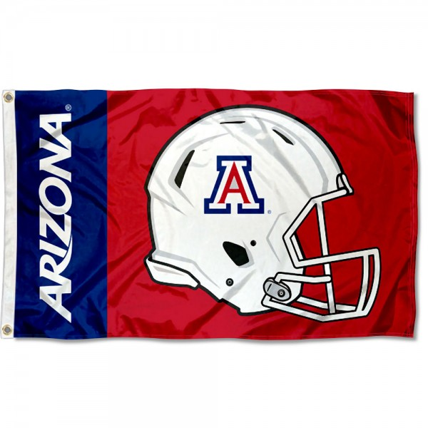 Arizona Wildcats Helmet Flag