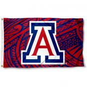 Arizona Wildcats Samoan Pattern Flag
