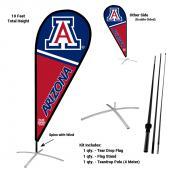 Arizona Wildcats Teardrop Flag and Stand Kit