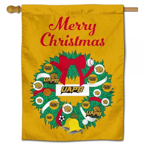 Arkansas Pine Bluff Golden Lions Christmas Holiday House Flag