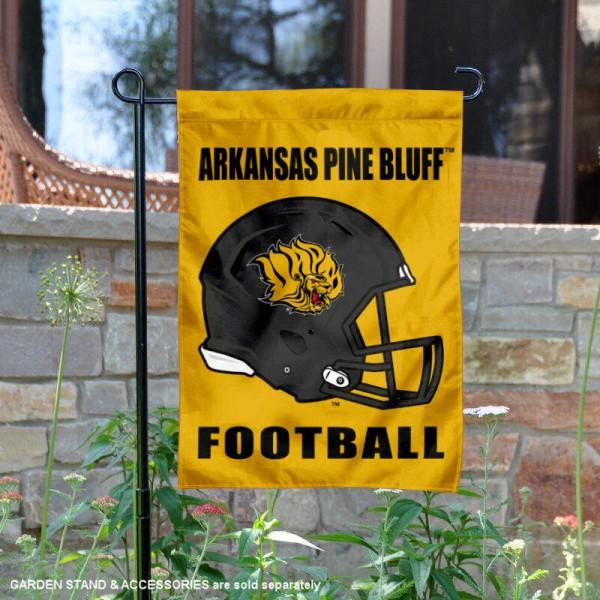 Arkansas Pine Bluff Golden Lions Football Garden Flag