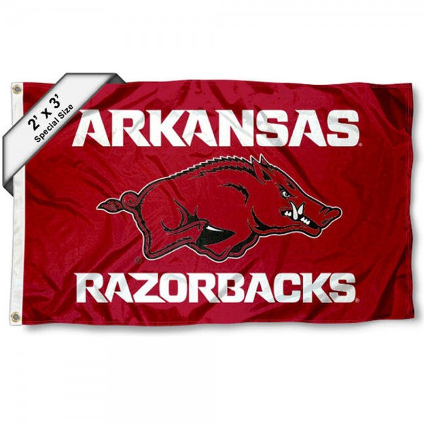Arkansas Razorbacks 2x3 Flag