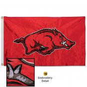Arkansas Razorbacks Appliqued Nylon Flag