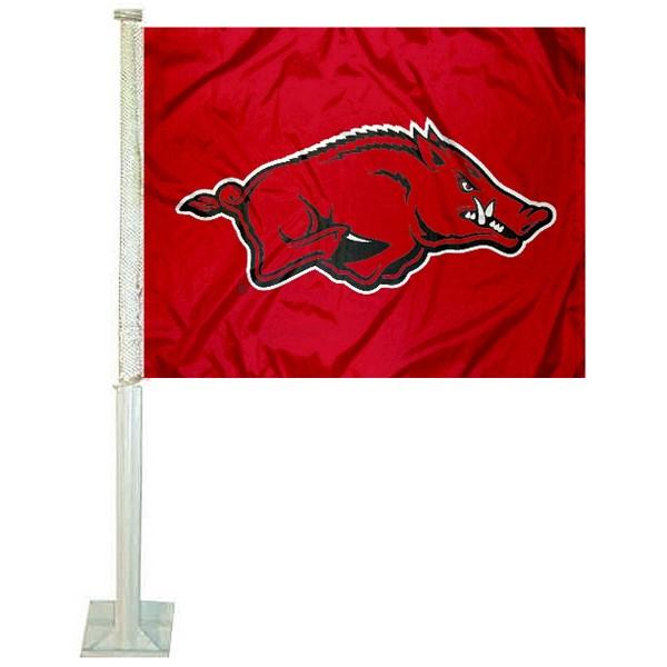 Arkansas Razorbacks Car Flag