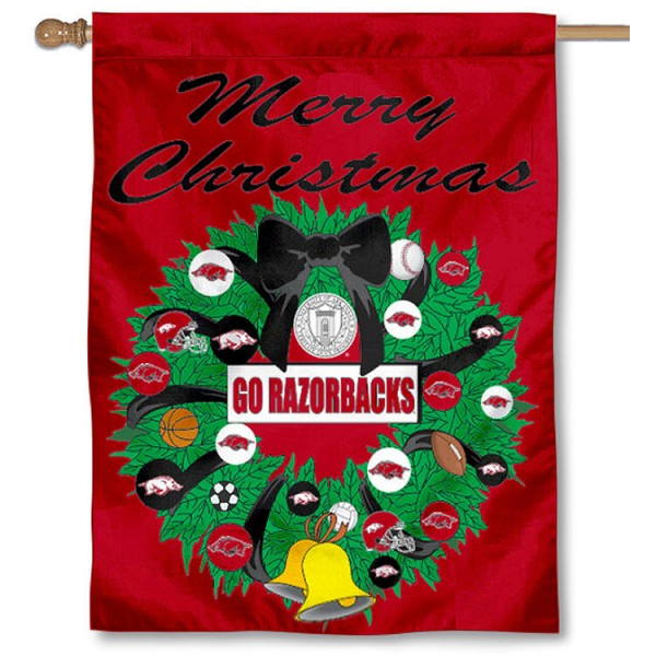 Arkansas Razorbacks Holiday Flag