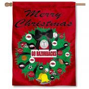 Arkansas Razorbacks Holiday Flag