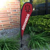 Arkansas Razorbacks Mini Teardrop Garden Flag