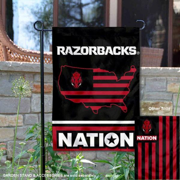 Arkansas Razorbacks Nation Garden Flag