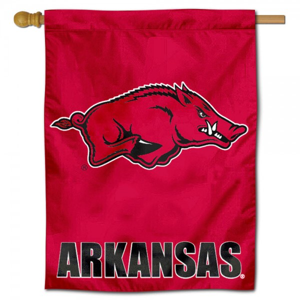 Arkansas Razorbacks Polyester House Flag