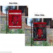 Arkansas Razorbacks Red and Black Garden Flag