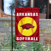 Arkansas Razorbacks Softball Garden Flag