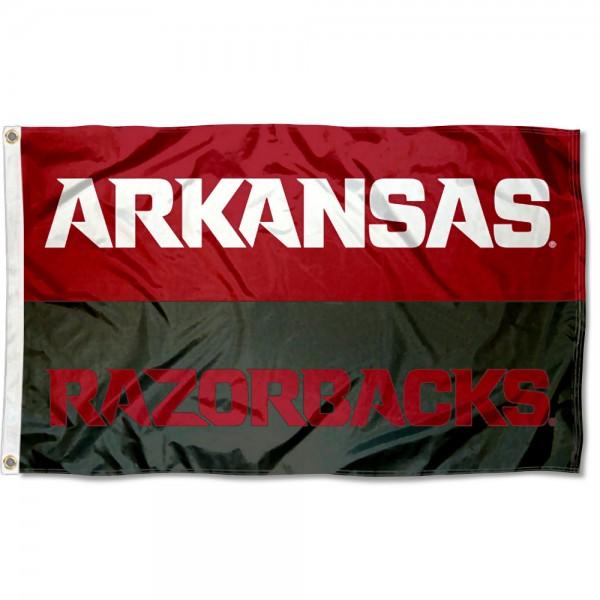 Arkansas Razorbacks Split Panel Flag