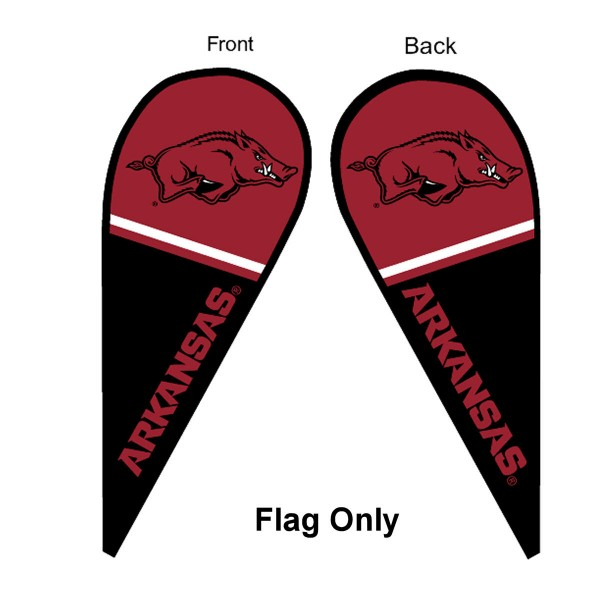 Arkansas Razorbacks Teardrop Flag