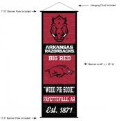 Arkansas Razorbacks Wall Banner and Door Scroll