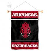 Arkansas Razorbacks Window Hanging Banner with Suction Cup