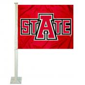 Arkansas Red Wolves Car Flag