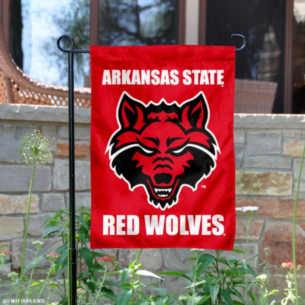 Arkansas State Red Wolves Garden Flag