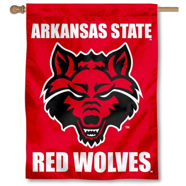 Arkansas State Red Wolves House Flag