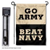 Army Beat Navy Garden Flag and Holder