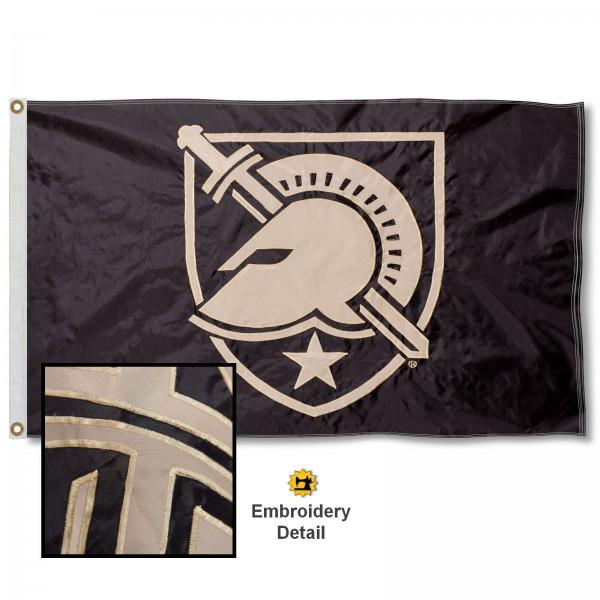 Army Black Knights Appliqued Sewn Nylon Flag