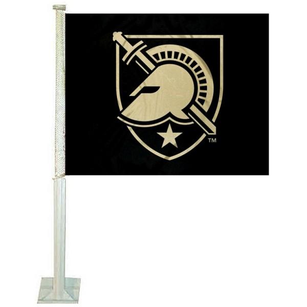 Army Black Knights Athena Shield Car Flag