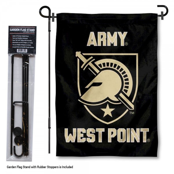 Army Black Knights Garden Flag and Holder