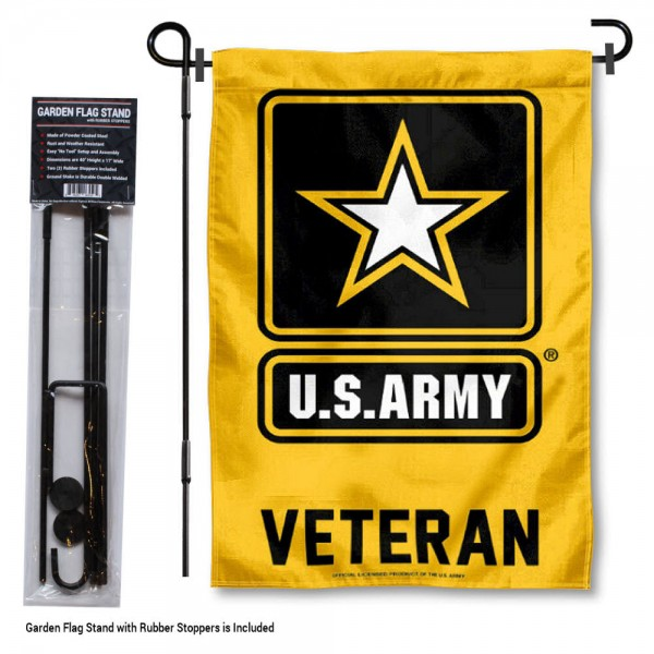 Army Veteran Garden Flag and Holder