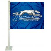 Assumption College Greyhounds Car Flag