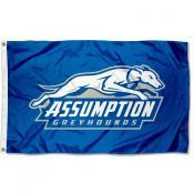 Assumption Greyhounds Gold Flag