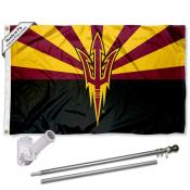 ASU Sun Devils Flag and Bracket Flagpole Kit