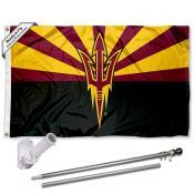 ASU Sun Devils Flag and Bracket Flagpole Kit