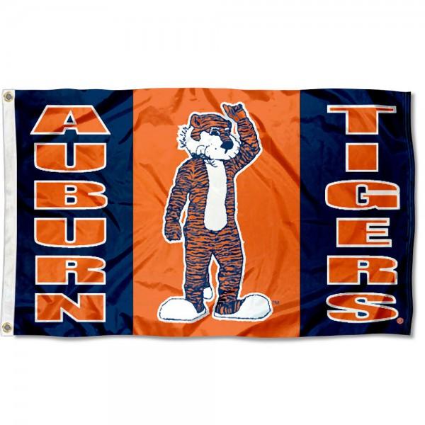 Auburn Aubie Mascot Flag