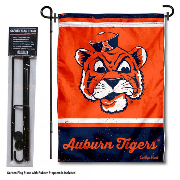 Auburn College Vault Garden Flag and Holder