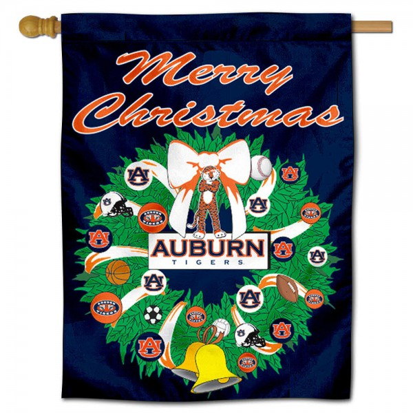 Auburn Holiday Flag