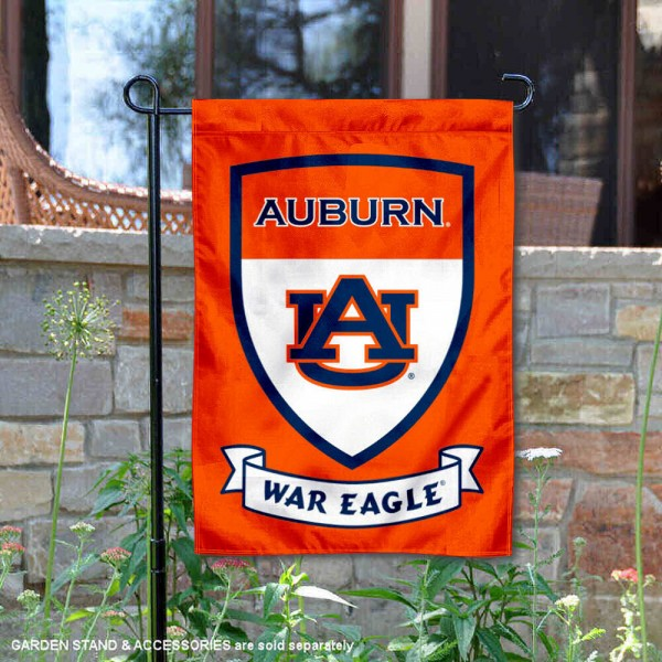 Auburn Shield Garden Flag