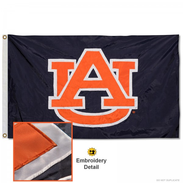 Auburn Tigers Appliqued Nylon Flag