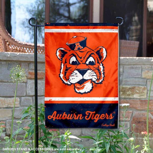 Auburn Tigers Retro Throwback Garden Banner