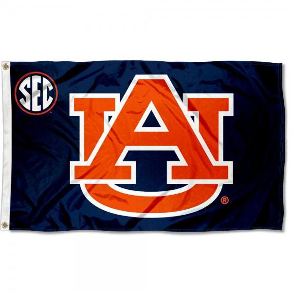 Auburn Tigers SEC Flag