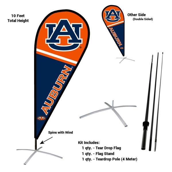 Auburn Tigers Teardrop Flag and Stand Kit