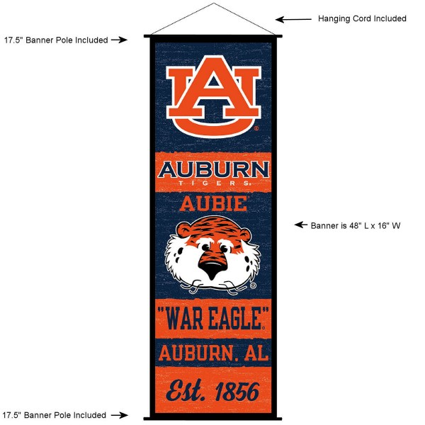 Auburn Tigers Wall Banner and Door Scroll