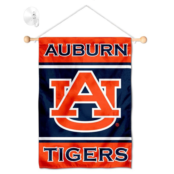Auburn Tigers Window Hanging Banner with Suction Cup