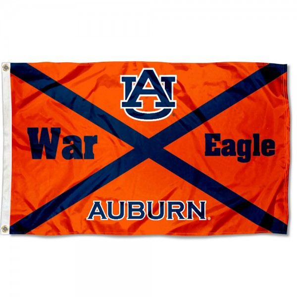 Auburn University State of AL Logo Flag