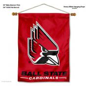 Ball State Cardinals Banner with Pole