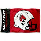 Ball State Cardinals Helmet Flag