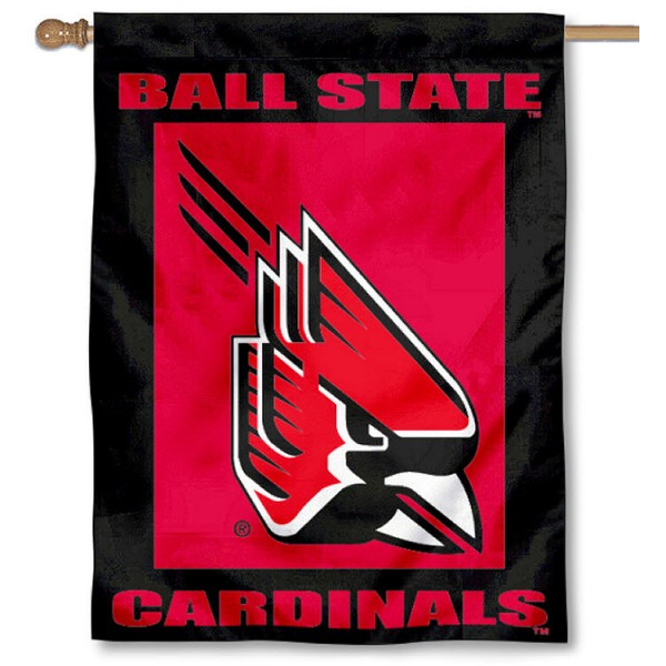 Ball State Cardinals House Flag