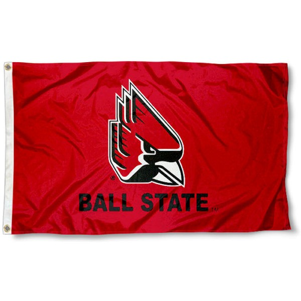 Ball State Cardinals New Logo Flag