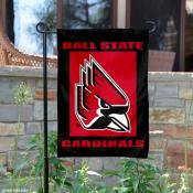 Ball State Cardinals Red Garden Flag