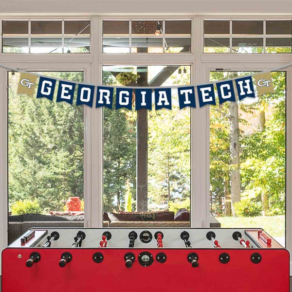 Banner Pennant Flag String for Georgia Tech Yellow Jackets