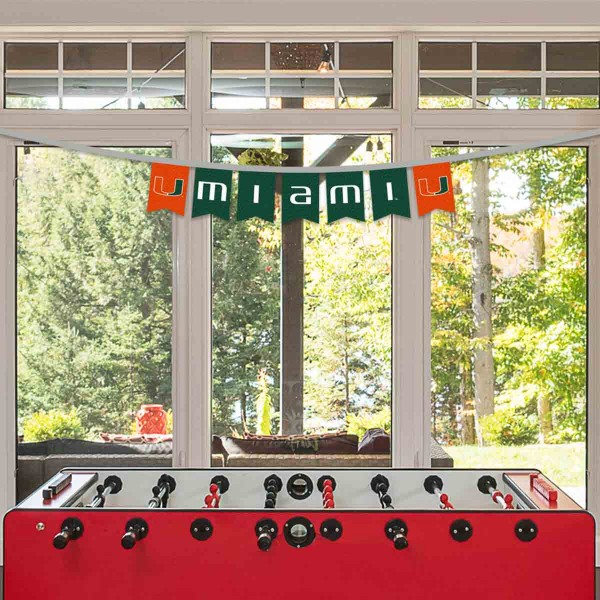 Banner Pennant Flag String for Miami Hurricanes